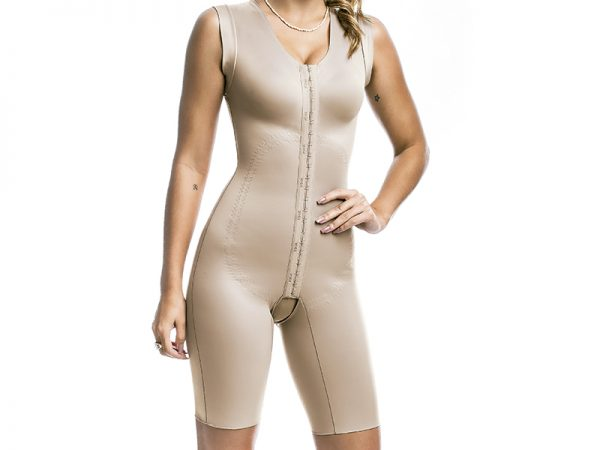 ABOVE KNEE SHAPEWEAR WITH WIDE BRA STRAPS WITH PRE-MOLDED CUP