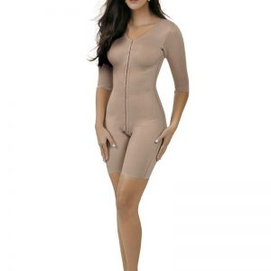 Below knee body shaper with long sleeves