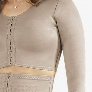 post surgery mini vest with sleeves pre-shaped bust