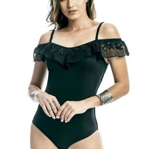 bodysuite with lace shoulders